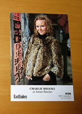 EASTENDERS CHARLIE BROOKS JANINE BUTCHER HAND SIGNED BBC CAST CARD FREE P&P
