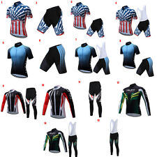 Mens Breathable Cycling Jersey 4D Padded Bike Pants Bicycle Clothing Set Riding