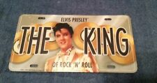 ELVIS PRESLEY THE KING OF ROCK 'N' ROLL METAL LICENSE PLATE