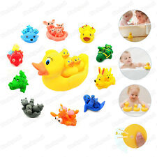 Kids Baby Bath Toys Little Rubber Animals Baby Mammy Bath Tub Float Squeaky Toys