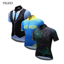TELEYI Bike Sports Mens Team Cycling Jersey Short Sleeve Cycling Clothing Shirt