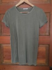 Alexa Chung For Ag Basic T Shirt Olive Green Size S Small Short Sleeve Top