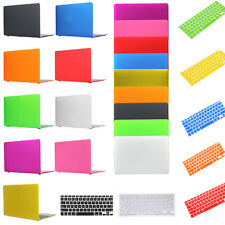 Hard Rubberized Case+Keyboard Cover For Macbook Air Pro Retina 11 12 13 15 inch
