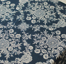 Vintage Blue Floral Home Bar Coffee Table Cotton Linen Cloth Cover oUSr