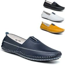 Men's Driving Casual Leather Shoes Moccasin Slip On Comfort Loafers Boat