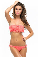 L*Space Dolly Knotted Fringe Bikini Top NEW WITH TAGS
