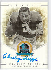 RARE CHARLEY TRIPPI SIGNED PANINI SPECTRA FOOTBALL HALL OF FAME AUTO CARD 49/50