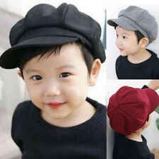 Toddler Girl Boy Baby Kid Infant Beret Cap Dome Octagonal Hat Baseball Casquette
