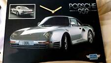 CLOCK Porsche  clock picture great gift idea -FREE POST TO UK MAINLAND
