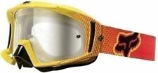 Fox Racing Motocross Main Pro Red yellow Platinum Clear Lens Goggle In Stock