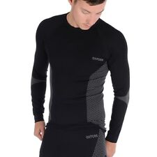 Oxford Layers Knitted Motorbike Motorcycle Base Layers Top Long Sleeve Black