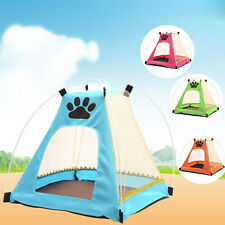 Lovely Discountable Ventilate Mesh Small Dog Tent Pet Puppy Bed House With Mat