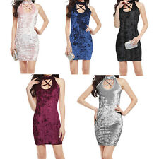 Slim Hot New Package Hip Cross Fashion Party Velvet Sexy Bandage Dress