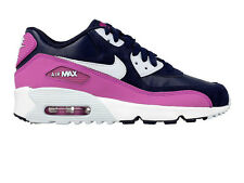 NIKE AIR MAX 90 LTR SIZE 4 36.5 WOMENS GIRLS TRAINERS NAVY/VIOLET PURPLE 1 95