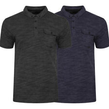 New Mens Dissident Dulwich Space Dye Short Sleeved Polo Shirt Top Size S-XXL