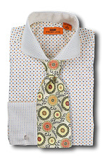 Dress Shirt Steven Land - Cutaway Spread Collar  French Cuff- Cream-DC1246-CR