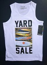 NWT Hurley Boy's White Graphic Tank Top Size M (10-12yrs 140-152cm) 2