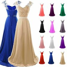Plus Size 2-26W Chiffon Long Bridesmaid Gown Party Cocktail Evening Prom Dresses