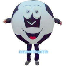 Carnival Festival Party Dress Outfit Black Football Adult Soccer Mascot Costume