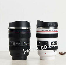 Stainless 24-105mm Lens Thermos Camera Travel Coffee Tea Mug Cup Funny Gifts