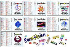 Eurovison Song Contest 2011, 2012, 2013, 2014, 2015, 2016 & 2017