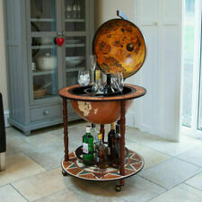 LARGE GLOBE SHAPED DRINKS CABINET MINI BAR TROLLEY VINTAGE RETRO ALCOHOL BOOZE