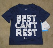"NWT Boys CARTERS Active ""Best Can't Rest"" Silky Navy Blue T-shirt - size 6"