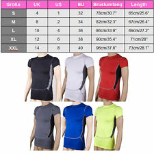 Mens Compression Base Layers Tops Thermal Tank Skins T-Shirts Vests