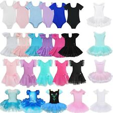 Toddler Kids Girls Leotard Ballet Dress Gymnastics Tutu Skirt Dancewear Unitards