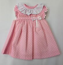 Baby Girls Romany Spanish Pink SPOTTY Dress 6Mths, 12Mths, 18Mths, 24Mths