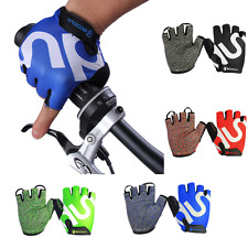 Mens Outdoor Bike Bicycle Cycling Riding Half Finger Gloves Shock-absorbing