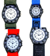 MENS WATCH SPORTY LIGHTWEIGHT - Blue Black Army Green & Red Self Adhesive Band !
