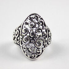 1 Pcs Beautiful Floral Design 925 Sterling Silver High Polished Oxidize Ring