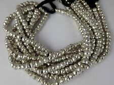 """1 Strand Natural Silver Pyrite Faceted Gemstone Rondelle Bead 6mm,7mm,8mm 7""""Long"""