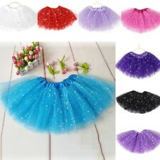 Girls Princess Glitter Tutu Skirt Kids Party Ballet Dance Wear Pettiskirt 2-7Y