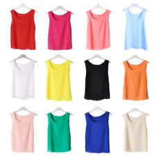 Women Sleeveless Loose T-shirt Tank Top Vest Casual Blouse Summer Camisole
