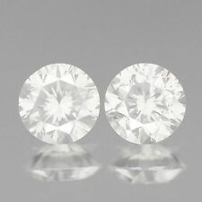 0.33ct 3.4mm VS2 FULL FIRE ROUND PAIR WHITE H COLOR NATURAL LOOSE DIAMONDS