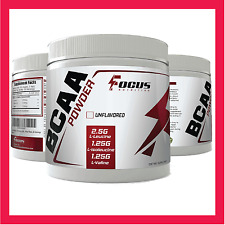 Focus Nutrition Pure BCAA Powder 2:1:1, 250 Grams, Amino Acids,Unflavored, BCAAs