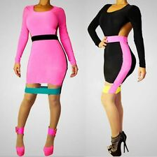 2017 New Long Sleeve Bodycon Sexy Clubwear Hollow Out Bandage Dress