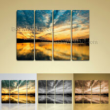Stunning Contemporary Wall Art Print On Canvas Seascape Sunset Painting HD Beach