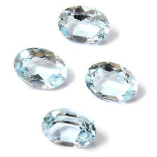 Natural Brazilian Sky Blue Topaz AA Quality 6x4 mm Faceted Oval Loose gemstone