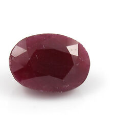 Be You 6.18cts Red Color Faceted Oval Shape Natural African Ruby