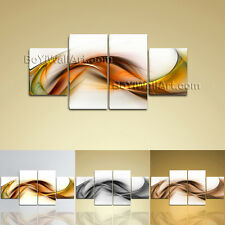 Large Abstract Picture Painting Modern On Canvas Dining Room 4 Panels Prints