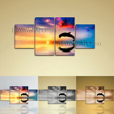 Large Abstract Picture Hd Print Modern Art Painting Dining Room Four Panels
