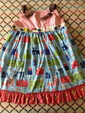 Matilda Jane Girls Size 10 Dress With  Re-moveable Apron