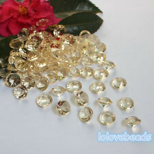 10mm 4CT Gold Shadow Acrylic Diamond Confetti Wedding Party Table Scatters