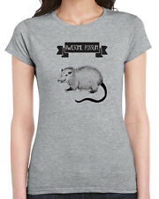 378 Awesome Possum womens T-shirt funny t-shirt mammal animal lover vegan shirt
