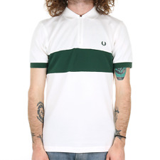 Fred Perry Chest Panel Pique Polo - Snow White
