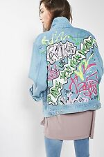 TOPSHOP *MOTO Graffiti Print Jacket* SIZE_UK6_8_10_12_14_16