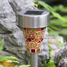 3 Colors Solar LED Path Colorized Light Outdoor Garden Lawn Stainless Steel Spot